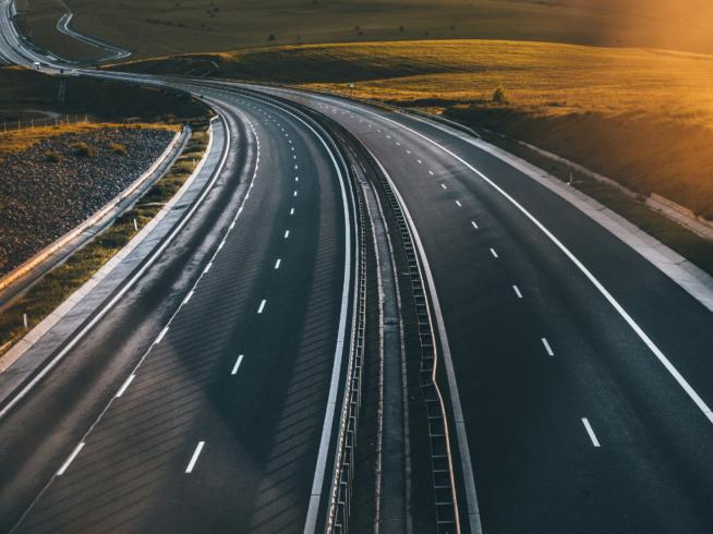 ruch na autostradzie
